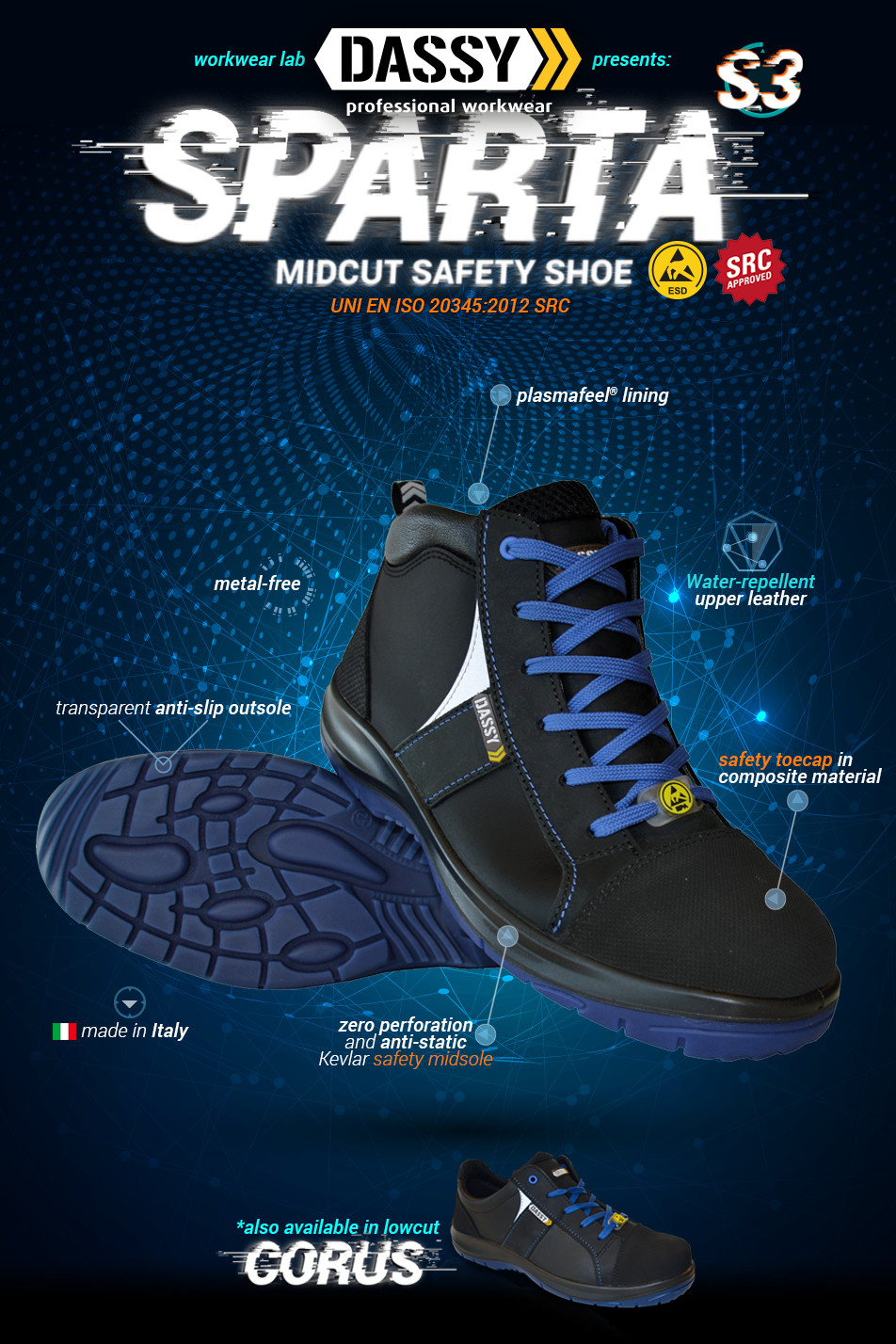 Dassy Midcut Safety Shoe Sparta S3